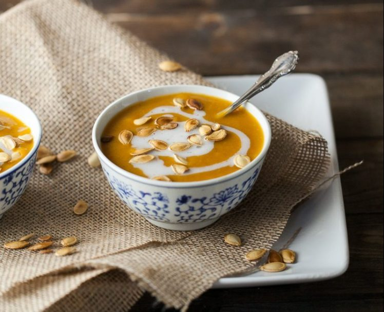 Curried Pumpkin Soup with Coconut, Photo courtesy of Naturally Ella