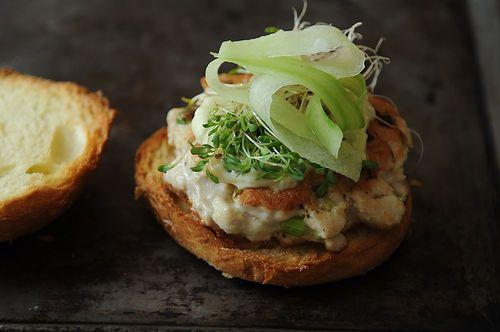 Tuna Burger with Wasabi Ginger Mayo